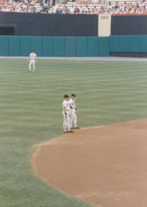 Cal and Bill Ripken at Memorial Stadium, 1989