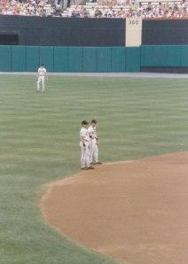 Cal and Bill Ripken at Memorial Stadium, 1989