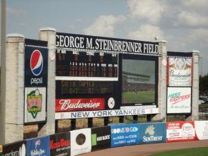 Scoreboard at Steinbrenner Field in Tampa