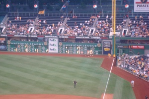 Totally cool scoreboard at PNC Park
