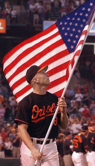 Cal Ripken on September 21, 2001 (photo courtesy of the Baltimore Orioles)