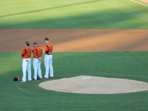 The National Anthem at the Bowie Baysox