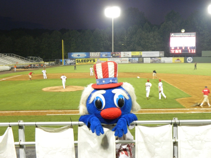 P-Nats' mascot Uncle Slam