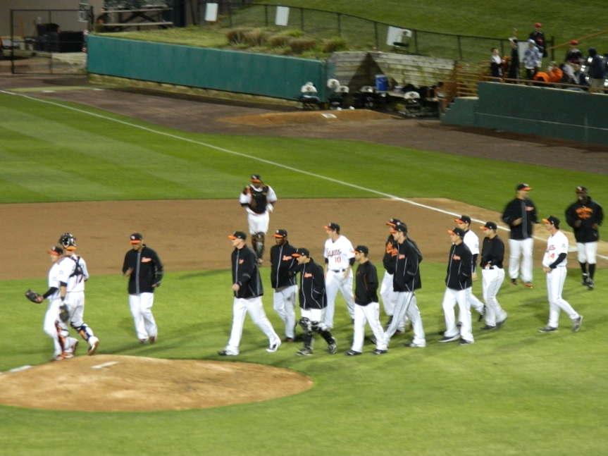 Baysox win 2012 home opener!
