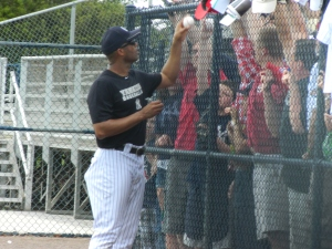 Mariano Rivera signing autographs during Spring Training, 2012