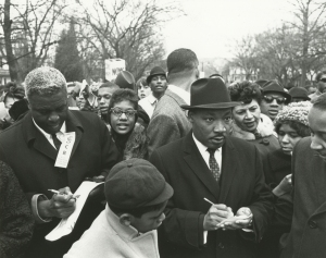 Martin Luther King, Jr., Georgia Davis Powers, Jackie Robinson, Civil Rights Freedom March, Frankfort, Kentucky, 1964
