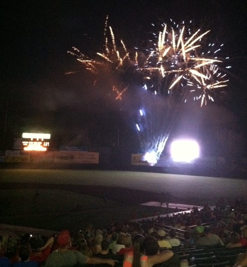 Fireworks at the Bowie Baysox, June 29, 2013