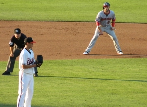 Wei-Yin Chen and Bryce Harper at Bowie, June 29, 2013