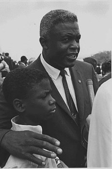 Jackie Robinson at the March on Washington, August 28, 1963