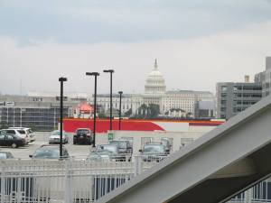 View of the Capitol behind Parking Lot B