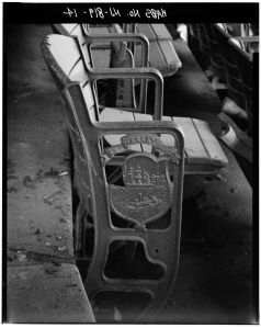 Stadium seat from Roosevelt Stadium in Jersey City, NJ