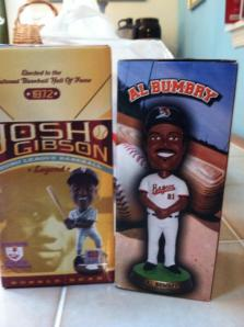 Josh Gibson and Al Bumbry bobbleheads