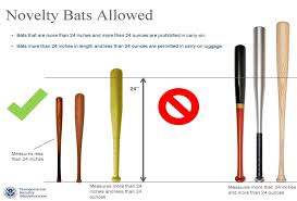 TSA instructions on baseball bats in carry on luggage