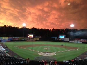 Sky over Prince George's County Stadium, June 23, 2015 (photo courtesy of the Bowie Baysox)