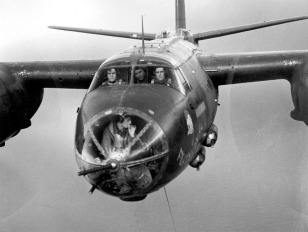 Closeup_view_of_Martin_B-26C_in_flight