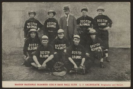 Boston National Bloomer Girs's Base Ball Club_1890